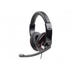 Casti cu microfon Gemburd MHS-001, difuzoare 40mm, cablu 1.8m, negru