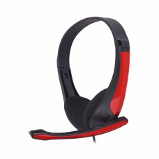 Headphones MATRIX DT-680 , stereo, black and red, medium model