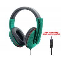 Casti Gaming cu microfon, Active P30, stereo, negru, model mare ,1 x jack 3.5mm 4pini, pentru calculator (cu adaptor),  laptop, consola, telefon