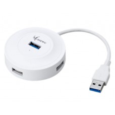 Hub usb 3.0 with 4 ports, Diewu, adapter/ multiplier, 5 GB/S, 15cm cable, + 1 port microUSB power supply