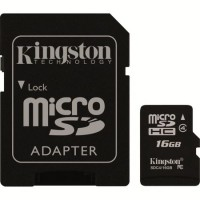 Card microSD 16Gb cu adaptor SDHC, clasa 4, Kingston