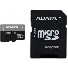 MicroSD Card 32Gb with adapter SDHC, class 10, Adata