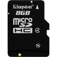 MicroSD Card 8Gb with adapter SDHC, class 4, Kingston