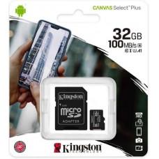 Card microSD 32Gb cu adaptor SDHC, clasa10, 100mb/s, Kingston