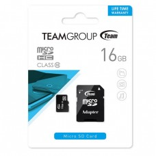 Card microSD 16Gb cu adaptor SDHC, clasa 10, TeamGROUP