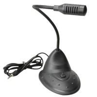 Microfon Active, cu picior, brat flexibil, jack 3.5mm, Pentru calculator / laptop