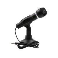 Microfon Active, cu picior, picior reglabil, jack 3.5mm, Pentru calculator / laptop