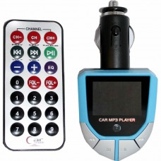 FM Transmitter with Remote Control, Active, big LCD Display, slot usb and micro-SD, mp3 function