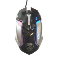 Mouse Gaming Iluminat ZORNWEE Z037, USB, 1000 dpi, optic, 4 butoane, cablu 1.4M