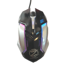 Mouse Gaming ZORNWEE Z037, USB, 1000 dpi, optical, 4 buttons, cable 1.4M, multicolor lighting system