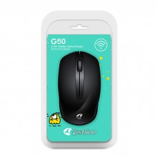 Wireless Mouse  Loshine G50 Black, USB nano, 1000 dpi, batteries included