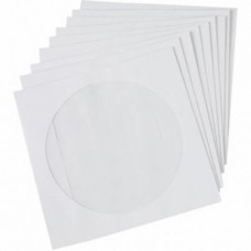 Set of CD / DVD Envelopes 124mm x 124mm, self-adhesive, 100 pieces