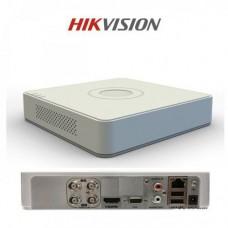 DVR 4 porturi Hikvision DS-7104HGHI-F1, Iesiri VGA + HDMI