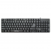 Tastatura USB DeTech, 104 taste, forma ergonomica, taste confortabile, Negru