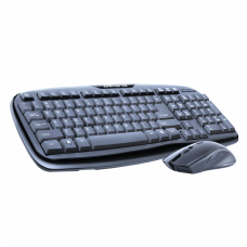 Kit Tastatura + Mouse Wireless, ZornWee WK-310, negru, Rezistent la Apa, baterii incluse