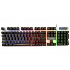 Tastatura Gaming Iluminata Mantis T1, alb-negru, USB, 104 taste