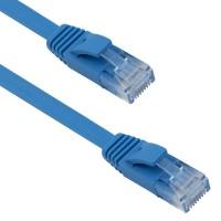 Cablu retea cat 6 Plat DeTech, 3M, UTP, albastru, mufat 2 x rj45 cat.6
