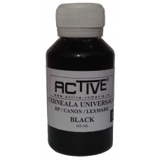 Universal Refill Ink  ACTIVE, 100 ml, Black, compatible with HP, Lexmark and Canon ink cartridge