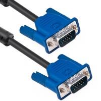 Cablu VGA Detech, 1.8m, dublu ecranat, bobine antiparaziti
