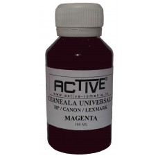 Universal Refill Ink  ACTIVE, 100 ml, MAGENTA - red , compatible with HP, Lexmark and Canon ink cartridge
