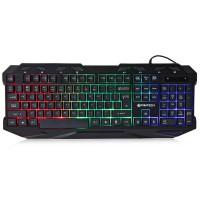 Tastatura Gaming FanTech K10,  Iluminata, USB, 112 taste, 8 taste multimedia, negru