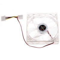 Fan for PC Cases / Power Supply WD 12V, 120mm, 2-wire, 4-pin plug, 1200RPM, silent, illuminated, transparent