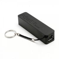 Acumulator extern Active, 2600 mAh, Negru, cablu micro usb inclus, power bank