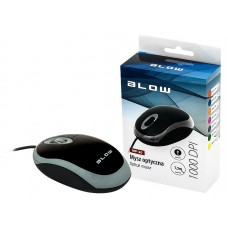 Mouse Optic BLOW MP-20, USB, 1000 dpi, 3 butoane, negru, cablu 1,5m