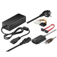 Adaptor USB 2.0 la Sata si Ide, ACTIVE, pentru a face hard disk sau cd / dvd extern, + alimentator 2A