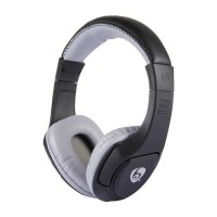 Casti audio bluetooth Ovleng MX333-1 negru-gri, difuzor 40mm, microfon, slot sd card, radio fm, baterie 200mAh, distanta maxima 10m, wireless, compatibil telefoane mobile