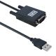 Cablu adaptor USB tata la port Serial 9 pin, RS 232