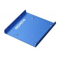 """Mounting frame adapter for HDD/ SSD 2.5"""" on bay at 3.5"""", ADATA, metal, blue"""