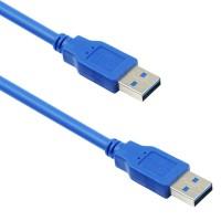 Cablu date USB 3.0 tata-tata, 3m, albastru