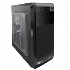 PC Cases RPC, no PSU, Middle Tower ATX, 2xUSB2.0, HD audio, opt.coolers: 8/9cm rear, 8/12cm side, 3.35kg, black