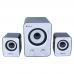 Sistem Boxe 2.1 Kisonli U2400, 11W, stereo, membrana cauciuc, subwoofer, alimentare usb, 1 x jack 3.5mm, calitate deosebita, sunet clar