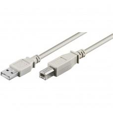 Cablu Imprimanta USB 2.0 tata A-B, 3m, bobina antiparaziti, gri