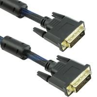 Cablu digital DVI-D, Detech, 3M, tata, 24+1pini, single link, dublu ecranat