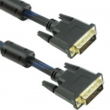 Cablu digital DVI-D, Detech, 1.5M, tata, 24+1pini, sigle link, dublu ecranat