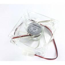Ventilator Carcasa / Sursa Vipben 12V, 80mm, 2 fire, mufa 4 pin, 2500RPM, silent, iluminat, transparent