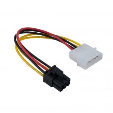 Adaptor alimentare placa video pci-e, 6 pini, de la molex