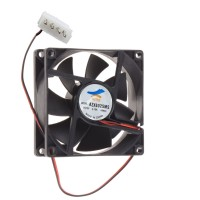 Fan for PC Cases / Power Supply ALTAS, 12V, 80mm, 2-wire, 4-pin plug, 2500RPM, Black