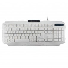 Tastatura Gaming ZornWee V01,  Iluminata, USB, 104 taste, ALB