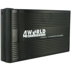 "Carcasa Rack Extern Hard Disk 3.5"" 4WORLD, USB 2.0, NEGRU, hdd mixt SATA si IDE, alimentare externa"