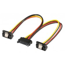 Power cable s-ata - 2 x SATA 90 degrees, 20cm, s-ata multiplier