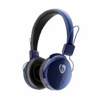Casti audio wireless bluetooth Ovleng V8-2-1 negru-albastru, microfon, slot sd card, radio fm, baterie 200mAh, distanta maxima 10m, compatibil telefoane mobile