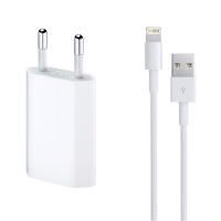 Incarcator si Cablu Date compatibil telefon iPhone 5/6/7/SE, ACTIVE, 5V, 1A, 1000mAh