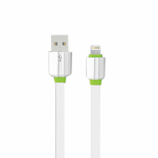 Lightning cable for iPhone 5/6/7, EMY, flat, white, 1m
