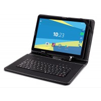"Tableta PC Overmax Qualcore 1023, 10.1"", 3G, Quad-Core 1.3Ghz, 1Gb Ram, 16Gb, 1280x800, Camera 5MP spate, 0.3MP fata, Android 7, Dual Sim, Functie Telefon"